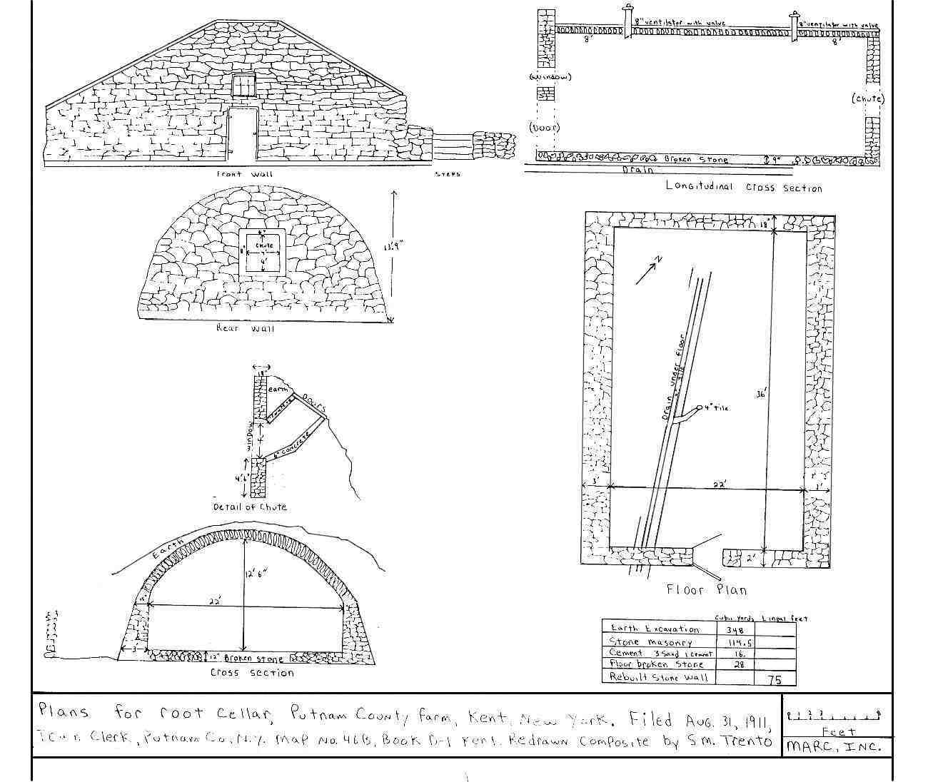 1911 Root Cellar Plan Kent Putnam County NY  sc 1 st  Stone Structures of Northeastern United States & Stones of Northeastern U.S. - Historic - Root Cellars