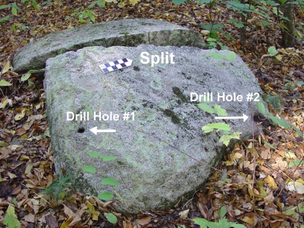 Native American Ceremonial Drilled Stone from Historic Period east Kingston NH