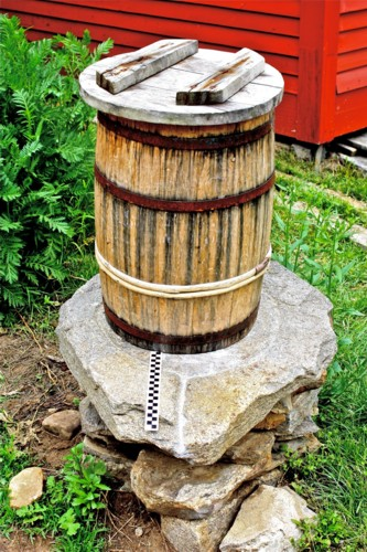 Lye Stone Old Sturbirgde Village (OSV) with leaching barrel