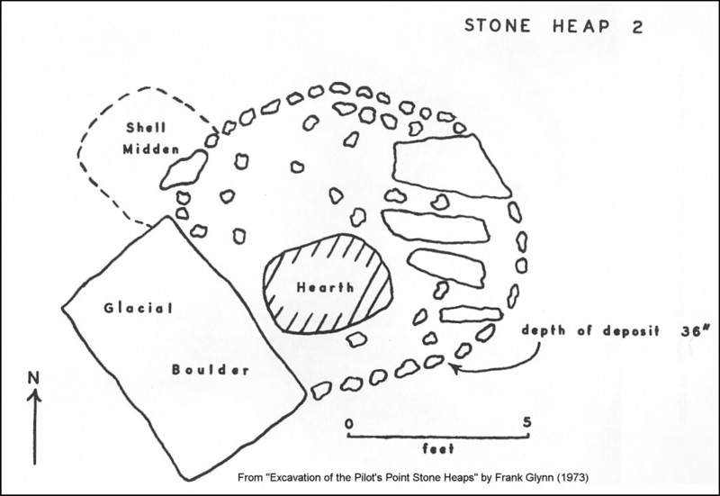 Pilot's Point CT Stone Mound II Excavation Illustration