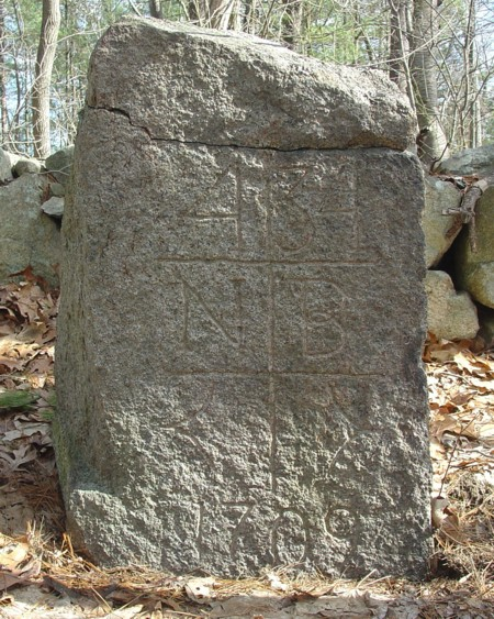 Milestone 34 (Reproduction) New Bury MA