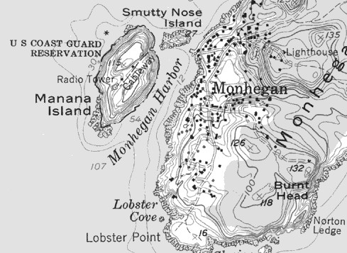 USGS Map of Monhegan & Manana Islands