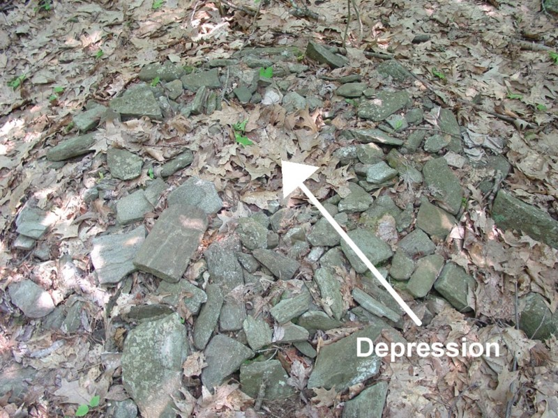 Cairn with Depression in Center - America's Stonehenge