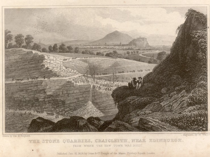 1829 Stone Quarries Craigleith Scotland