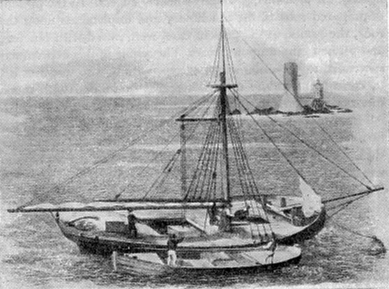 Coastal Lighter Vessel Used to Transport Quarried Stone