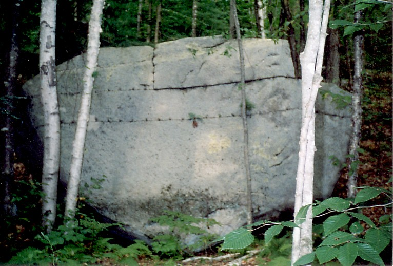 Boulder quarried in horizontal layers