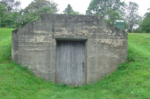 1918 Concrete Root Cellar Entrance  Newburyport MA