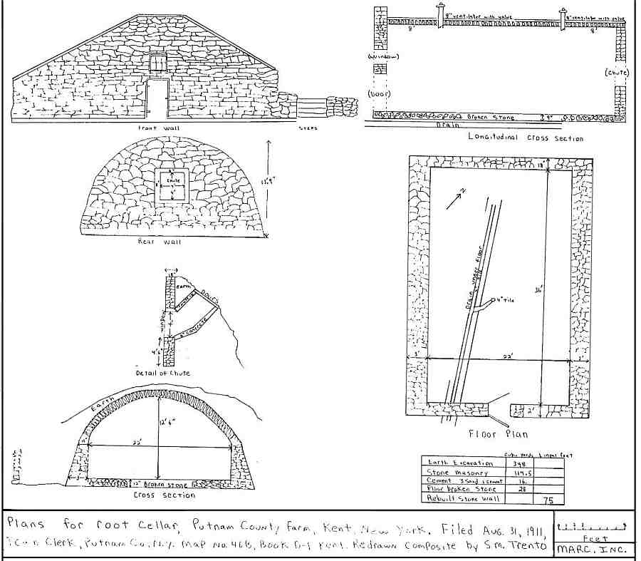 1911 Root Cellar Plan Kent, Putnam County, NY