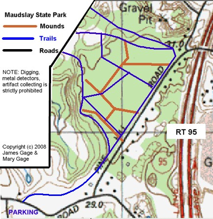 Maudslay State Park - Indian Mounds Tour Map